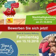 Familientag am 15.10.2016 und Nachhaltigkeitstag am 21.10.16, mitmachen und gewinnen!