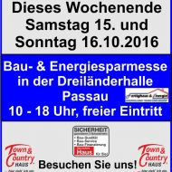 Dieses Wochenende 15-16.10.2016 Bau & Energiesparmesse in Passau!