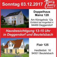 Sonntag den 03.12.2017 Hausbesichtigung bei Deggendorf sowie in Beutelsbach!