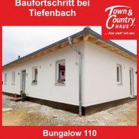 Baufortschritt und Blower-Door Test bei Tiefenbach